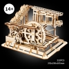 3d wooden puzzle - marble run coaster