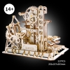 3d wooden puzzle - marble run tower coaster