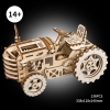 3d tractor with mechanical gears wooden puzzl