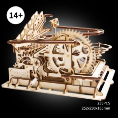 3d marble run wooden puzzle (water coaster)