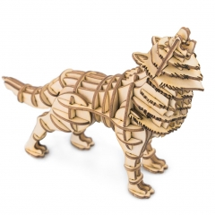 3d wooden puzzle: wolf